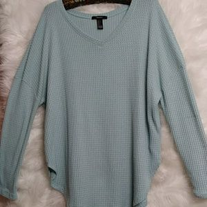 FOREVER 21 Waffle Textured Long Sleeve T-Shirt